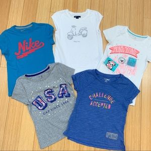 Girls T-Shirt bundle, sz 8. Gap, Nike +